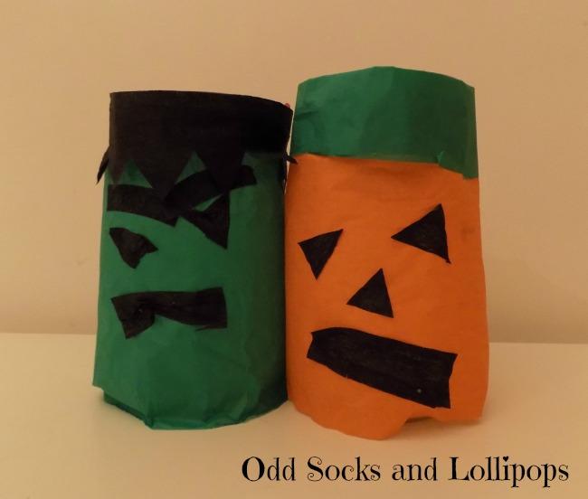 Halloween Crafts Glass Jar Lanterns