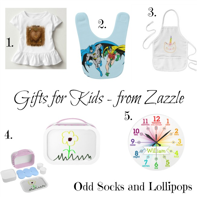 Gifts for Kids from Zazzle - sharing my tops picks for Christmas presents for kids from Zazzle