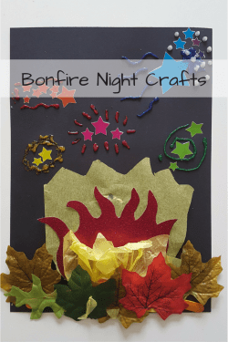 Bonfire Night Crafts - making a glittery bonfire night picture, lots of fun for toddlers and preshoolers.
