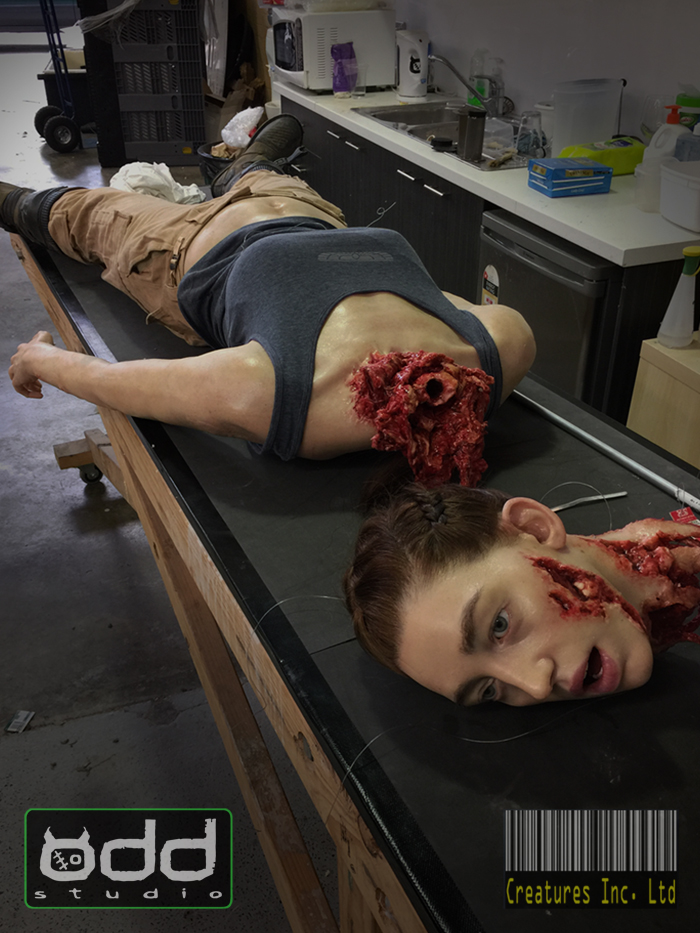 Odd Studio AlienCovenant Rosenthal Dismembered Head And Body Models