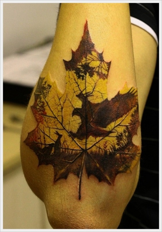 Get Delicate Leaf Tattoo On Your Body