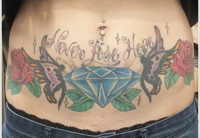 Stomach Tattoo Designs For Women