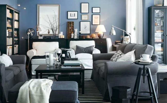 best gray for living room small layout with fireplace and tv 20 monochrome interiors : rainbow palette