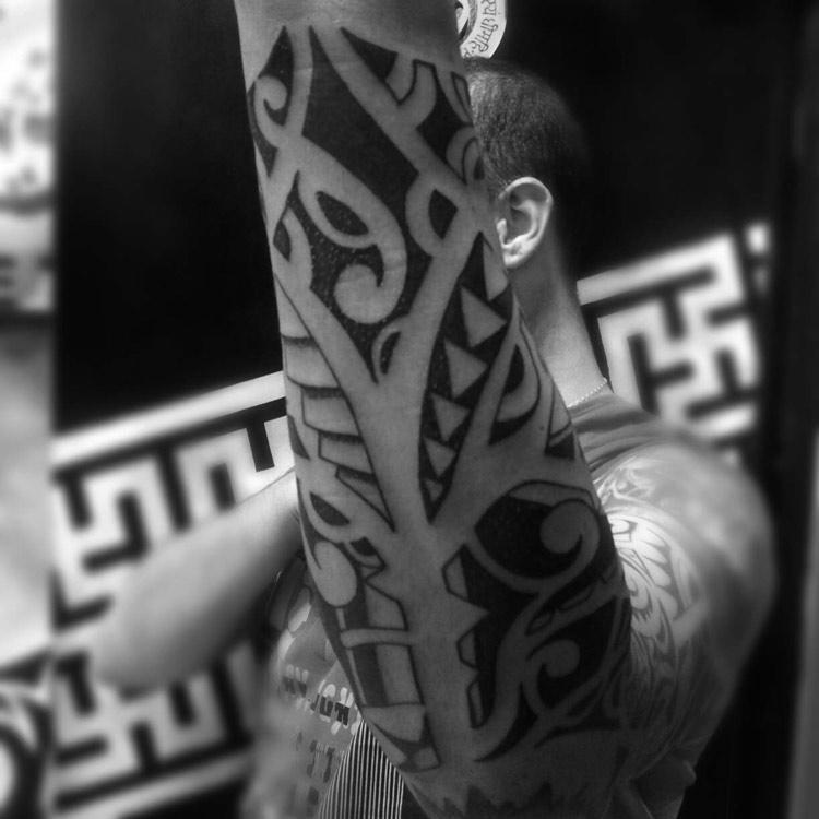 Hawaiian Forearm Tattoo