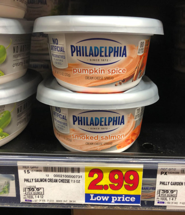 Be sure to pay attention when grabbing cream cheese this holiday season