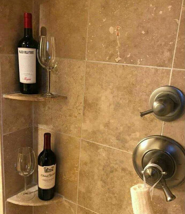 During my annual wellness check the nurse suggested at my age I should have a bar in the shower. I took her advice