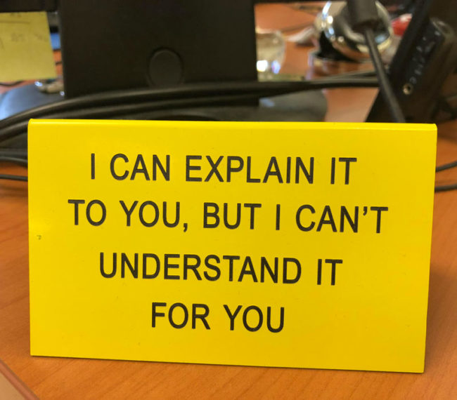 I can explain it to you..
