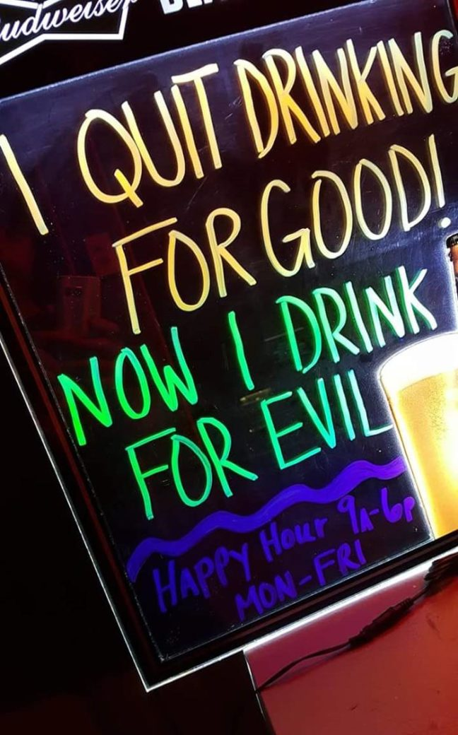 I quit drinking for good!