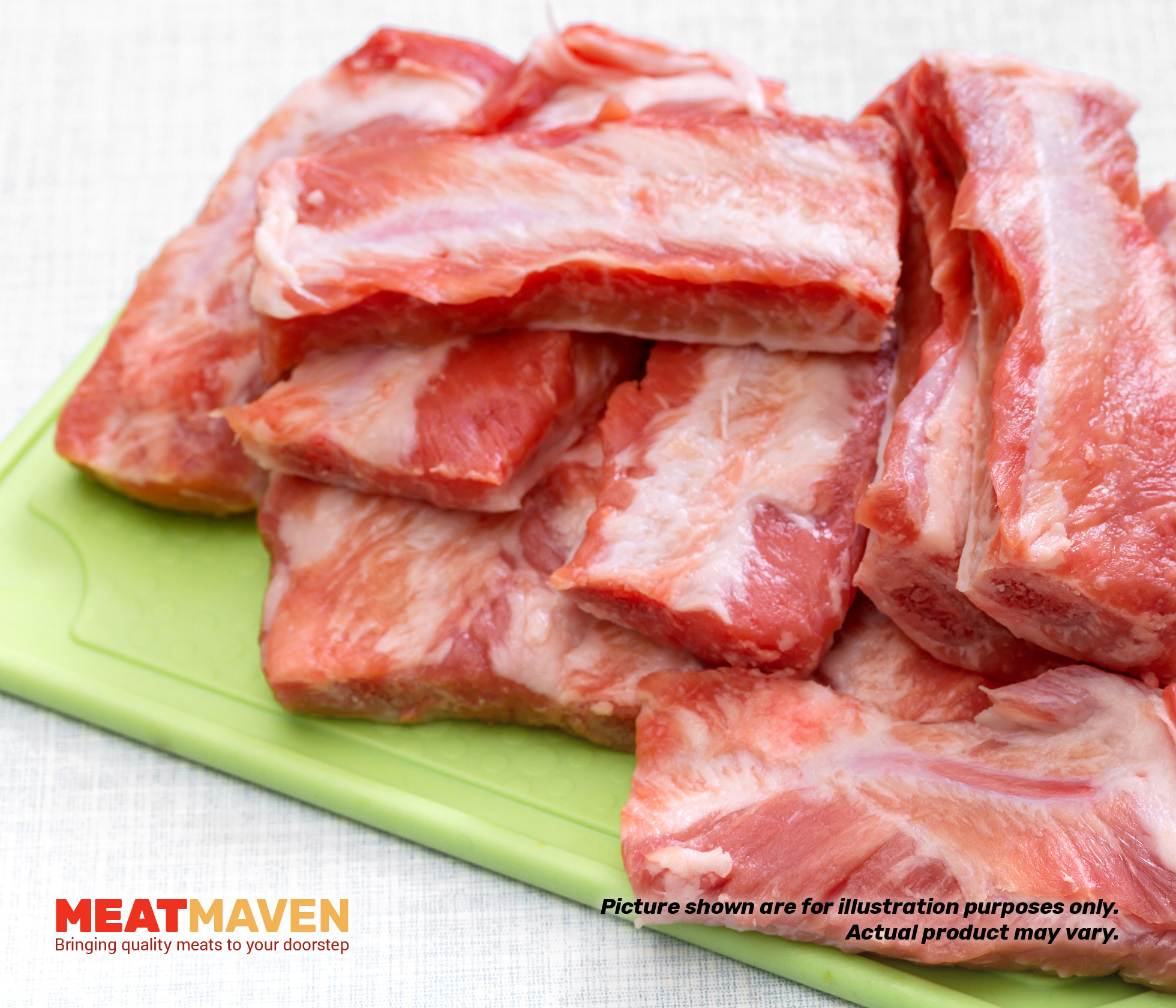 hight resolution of pork prime ribs raw
