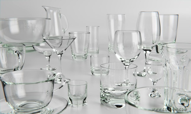 3D-Rendering-of-glassware