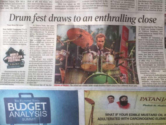 Times of India Newspaper Review of show FINAL for India version website