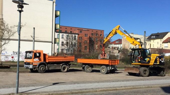 Umbau Parkplatz Fürstenberger Straße Baustelle