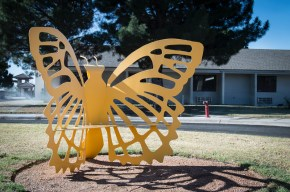 Butterfly Bench at Parks Methodist Home Christina Hanes
