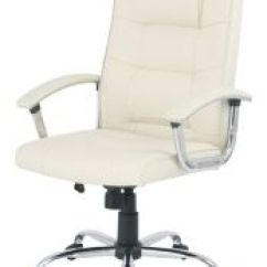 Cream Office Chair Faux Leather Bedroom With Skirt Berlin Business Faced Executive Swivel Computer