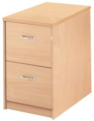 Largo two drawer filing cabinet maple by Viking