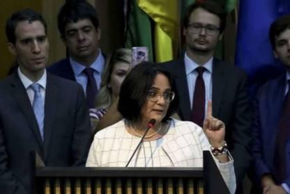 Solenidade de apresentação da ministra da Mulher, Família e Direitos Humanos, Damares Alves, e dos secretários da Pasta