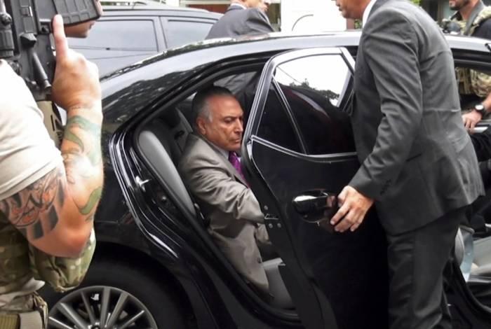 Ex-presidente Michel Temer foi preso na manhã desta quinta-feira