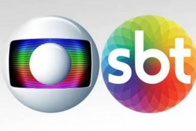 Logo das emissoras Globo e SBT