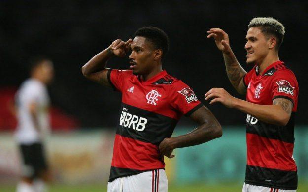 Flamengo x Volta Redonda pela 11 rodada do Campeonato Carioca 2021, no estádio do Maracanã. Comemoração do Gol do Vitinho