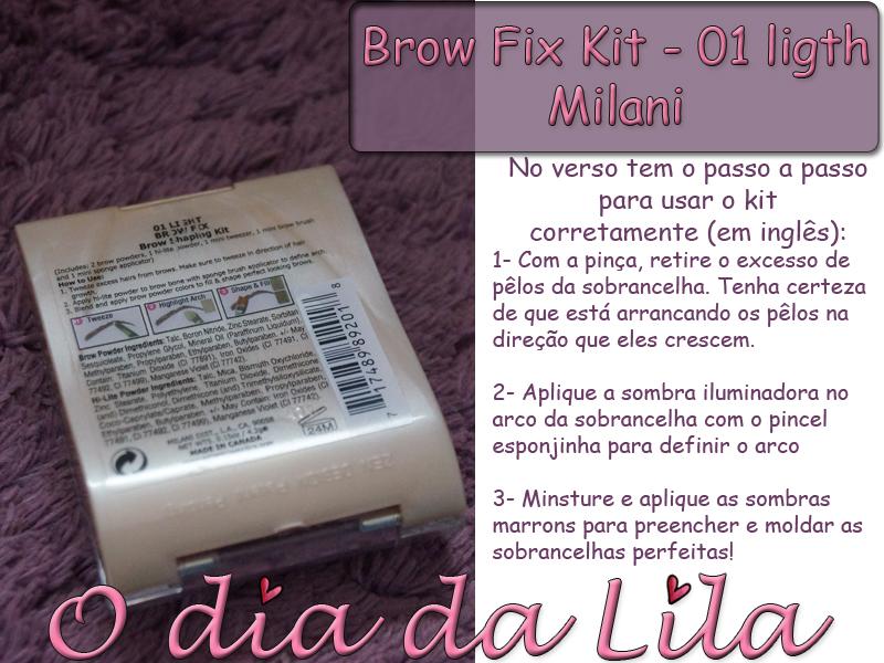 Como usar brow fix kit