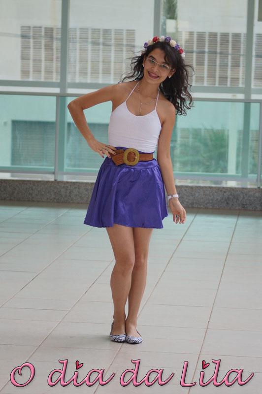 #lookdalila saia roxa11