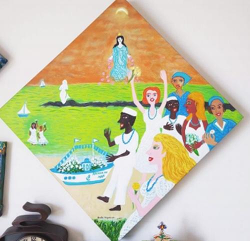 Obra do artista plástico Lula Nogueira, Homenagens a Iemanjá em Maceió (Reprodução)