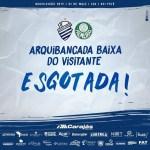 CSA x Palmeiras: Ingressos da baixa do visitantes esgotada