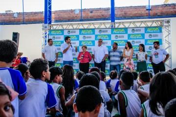 Rui Palmeira fala da importância da educação aliada ao esporte nas escolas de Maceió Foto: Pei Fon/ Secom Maceió