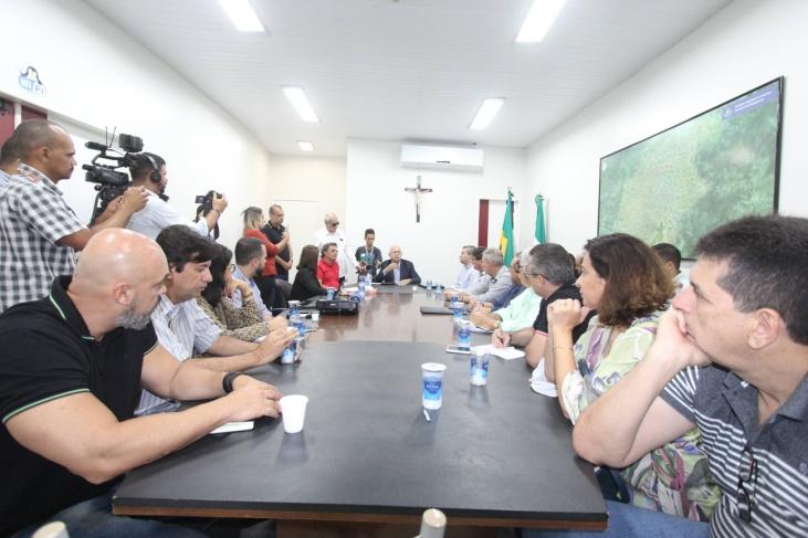 Reunião da Prefeitura de Arapiraca para decisão de medidas preventivas contra o coronavírus – Foto: Samuel