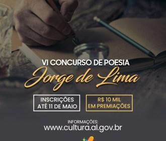 Secult lança nova edição do Concurso de Poesia Jorge de Lima