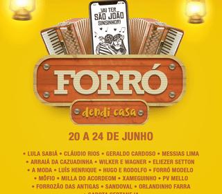 Cultura realiza o Forró Dendi Casa em comemoração aos festejos juninos