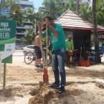 Nossa Praia inicia ações de reposição de placas e bobinas no litoral de Alagoas