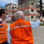 Instabilidade de solo: secretário nacional visita áreas afetadas