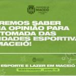 Esporte e lazer: Pesquisa sobre retomada de atividades segue até domingo