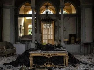 De ravage van het Sursock paleis in Beiroet, Libanon. Foto Diego Ibarra Sánchez