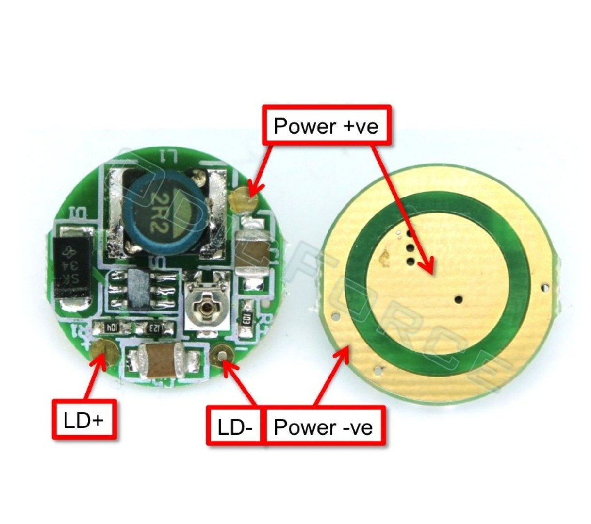 hight resolution of 0 1600ma 17mm circular boost driver board for 405 and 445nm laser diodes odicforce