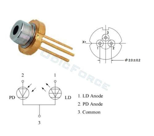 small resolution of sony 50mw 405nm blue violet laser diode with photo diode to18 5 6mm sld3135