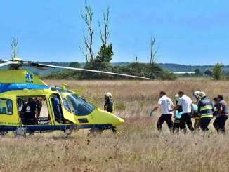 Helicóptero do INEM foi acionado
