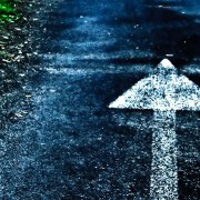 Arrow on the road