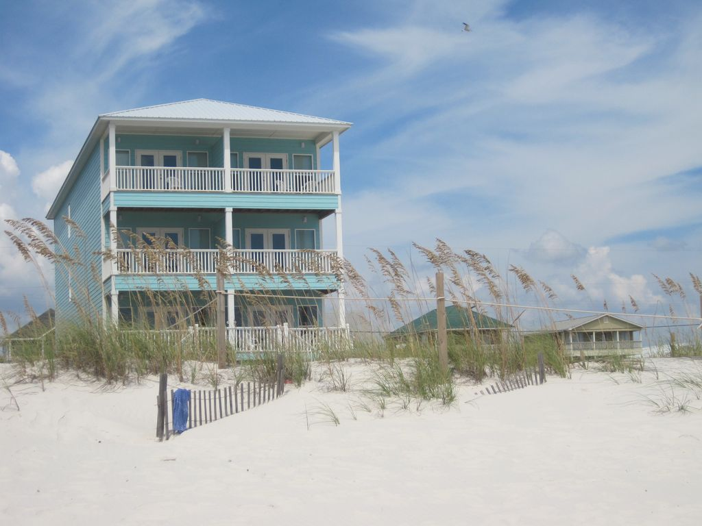 14 Bedroom Gulf Front w Private Pool and Boardwalk  Gulf Shores