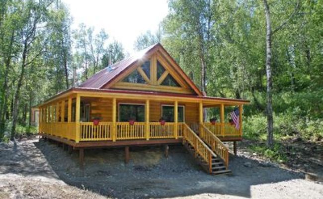 Gorgeous Log Cabin With Huge Wraparound Porch Sutton Alpine