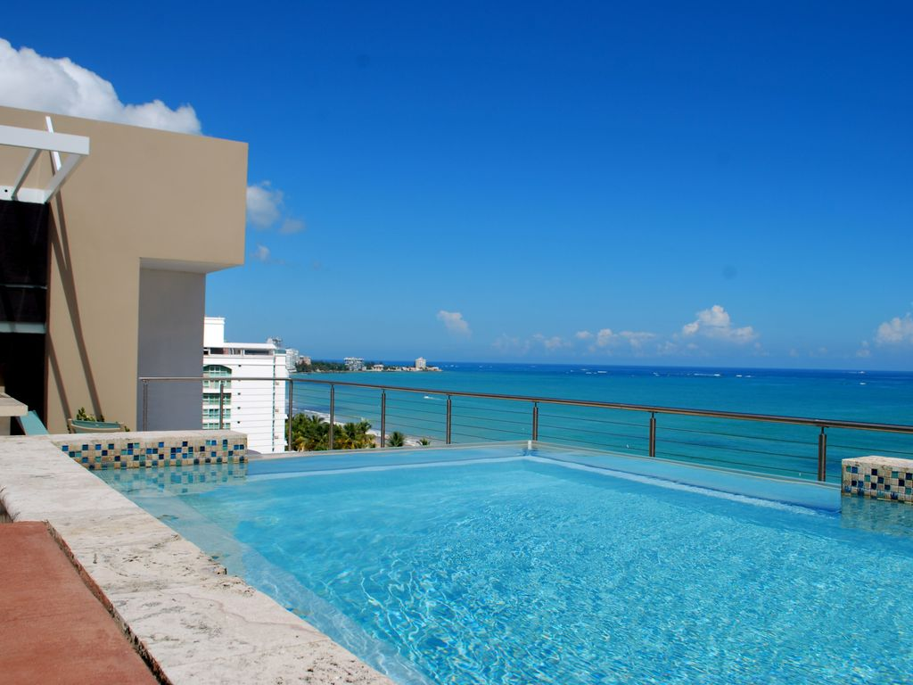 Stunning luxury beach front Sub Penthouse Awesome HIGH FLOOR beach views  Isla Verde