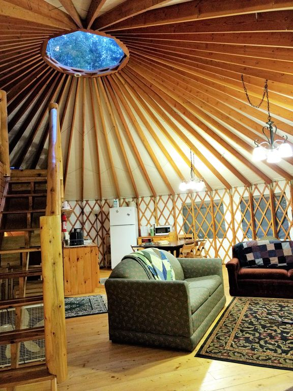 Eagle Yurt At Wilderness Wind Ely MN With 3 Bedrooms And Full Kitchen Ely