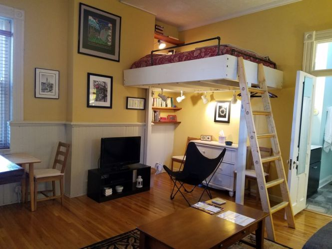 Osu Short North Cozy Loft Bed Studio Apartment In The Center Of Columbus