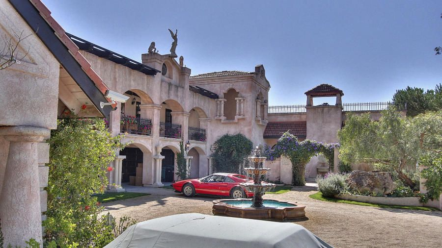 Chateau Reminiscent of European Estate Overlooking All of Carmel Valley  Ocean  Carmel Valley
