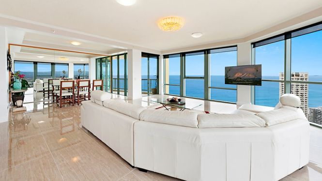 Surfers Paradise Luxury Apartment Ocean Front Panorama