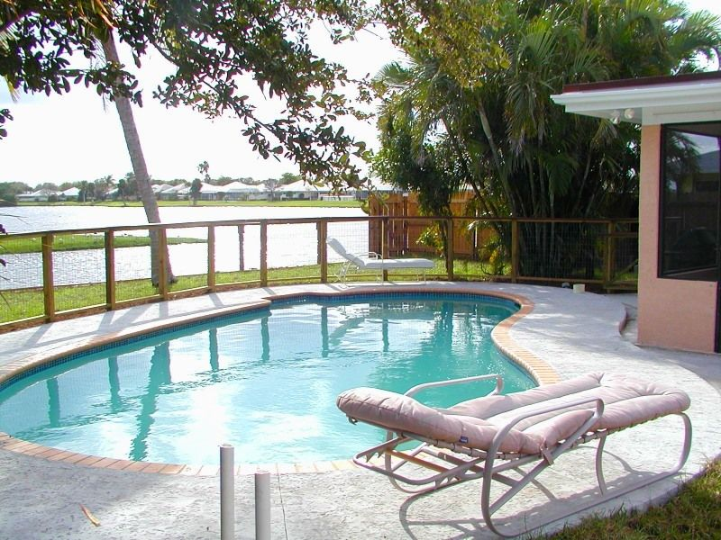 Furnished Lakefront Home  Pool Internet  WiFi  Palm Beach Gardens