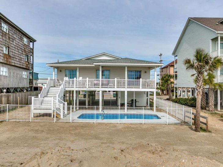 Lovely Oceanfront Home with Private Pool. Share. Cherry Grove Beach, North  Myrtle ...
