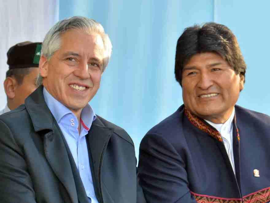 Evo y Álvaro García Linera, vicepresidente en el gobierno de Evo Morales.