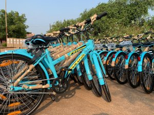 Mo Cycle cycles parked in Bhubaneswar